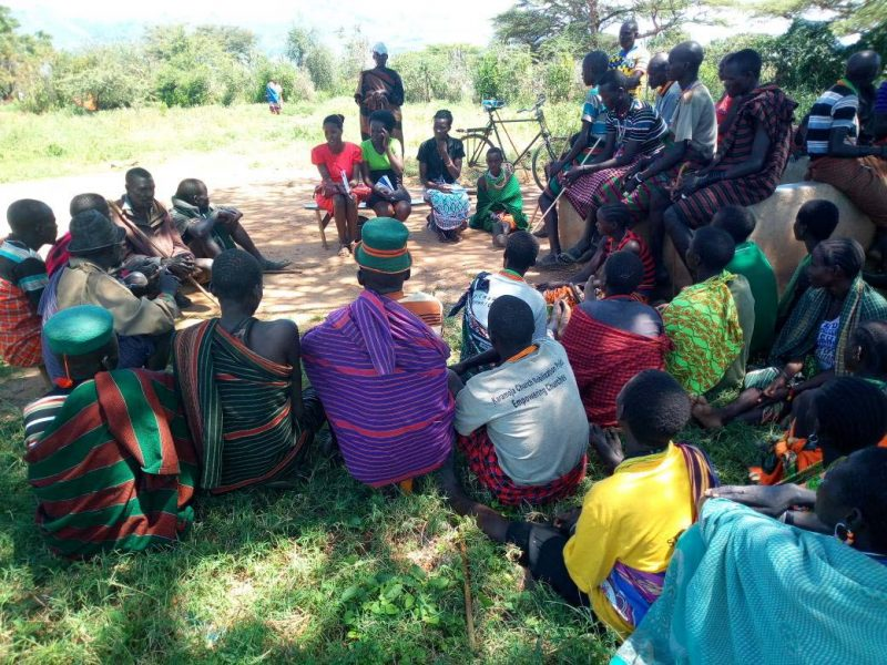 KAWUO DIALOGING WITH MEN AND WOEMN ON GBV PREVENTION IN MOROTO DISTRICT 2017