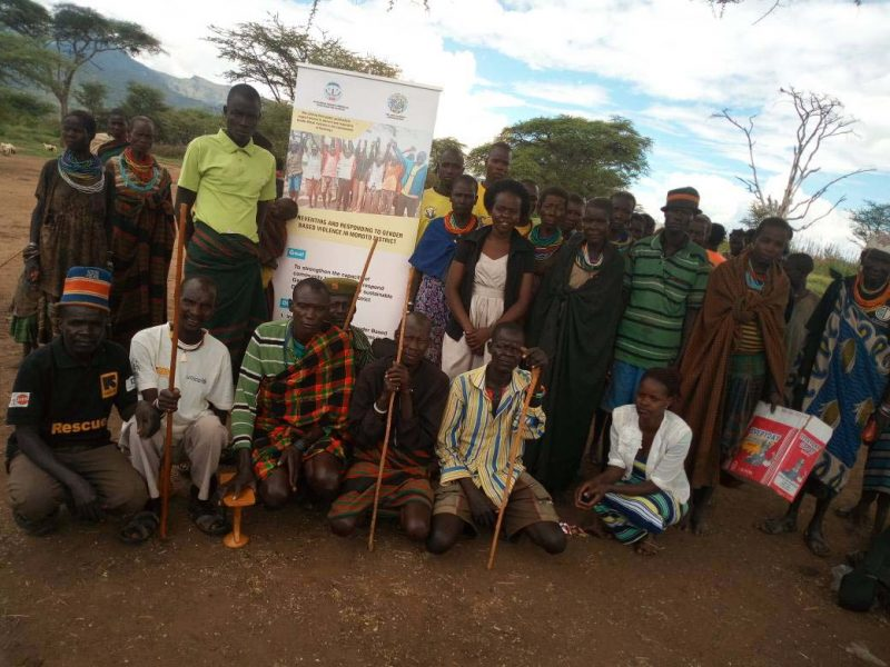 KAWUO PHOTO after the dialogue with the men and women on NEGATIVE CULTURALPRACTICSE THAT PROMOTE VIOLENCE IN MOROTO